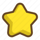star, level, bookmark, clear, favorite, score