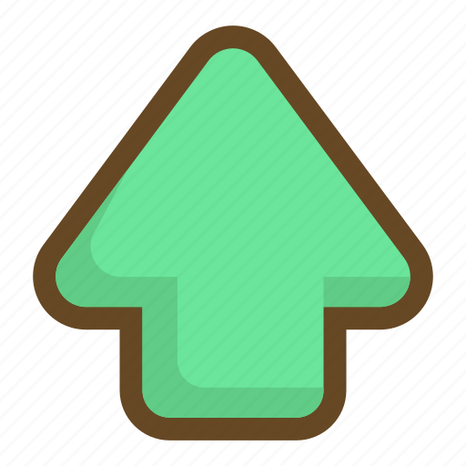 arrow, direction, go, navigation, top, up, upload icon