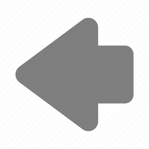 Arrow, back, backward, direction, left, player, previous icon - Download on Iconfinder