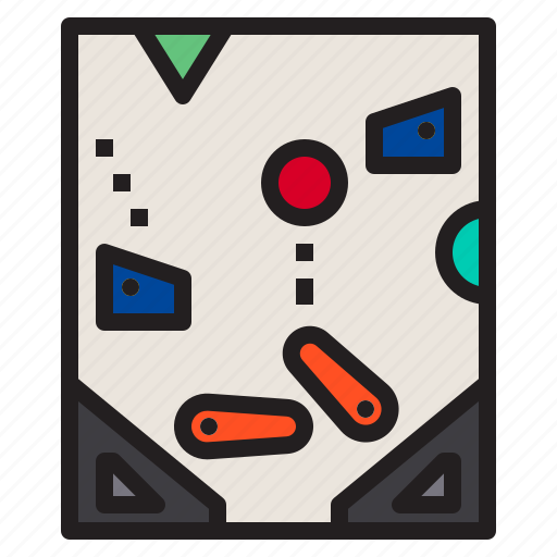 controller, game, gaming, pinball, play icon