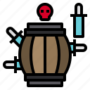 barrel, game, gaming, pirate, play, player icon