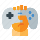 competition, controller, fortnite, game, hand, holding, pubg icon