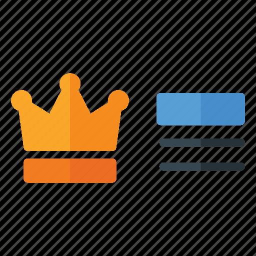 crown, fortnite, game, king, pubg, rank icon