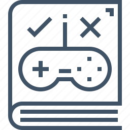 book, game, gudeline, play, rules, strategy, technic icon