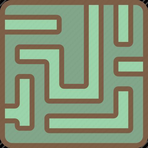 design, development, game, maze, video game icon