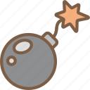 bomb, development, element, game, video game icon