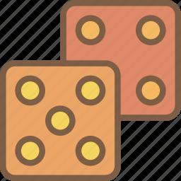development, dice, game, video game icon