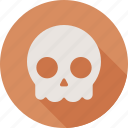 dead, death, halloween, skull icon