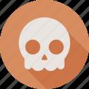 skull, dead, death, halloween icon