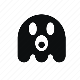 death, emoticon, evil, ghost, halloween, horror, monster, pacman, scary, spooky icon