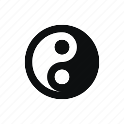 b & w, black and white, china, japan, magic, religion, yin yang icon