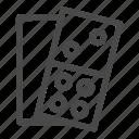 card, casino, domino, game icon