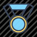 achievement, award, circle, game, medal, prize, reward, star icon