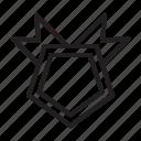 achievement, award, badge, game, medal, pentagonal, prize, reward icon