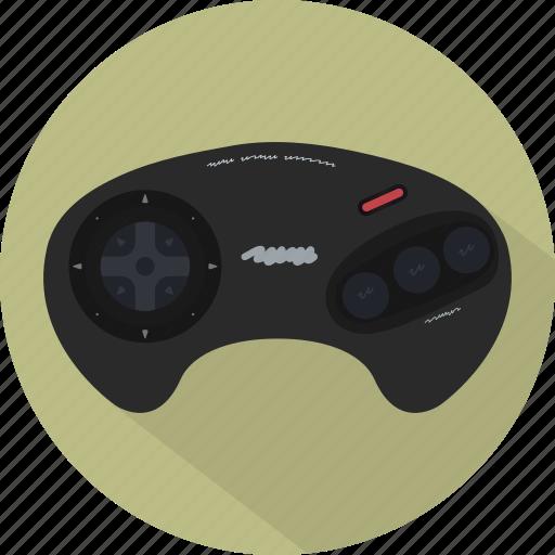 game, gamepad, genesis, megadrive, pad, retro, sega icon