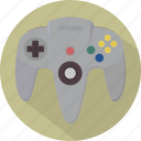 console, controller, game, gamepad, n64, nintendo, pad icon