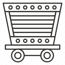 cart, gold, mining, trolley icon
