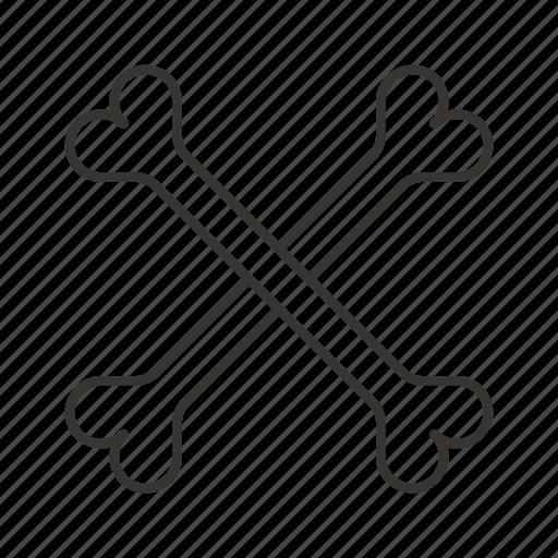 bone, bones, cross, death, skeleton, skull icon