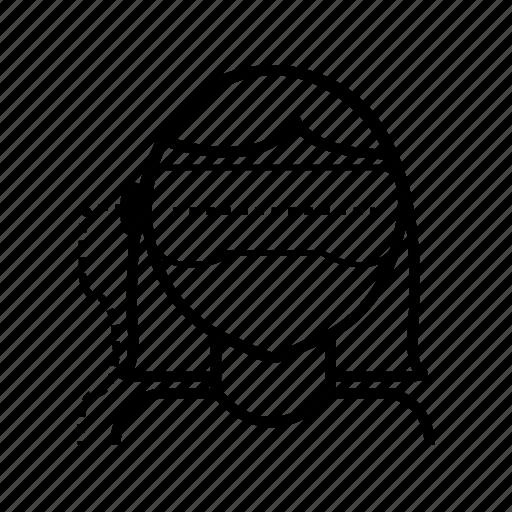 box, glasses, head, reality, virtual, vr icon