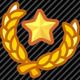 badge, congratulations, game, grade, rank, upgrade icon