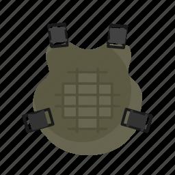 armor, bullet, bulletproof, equipment, protection, uniform icon