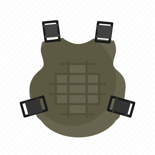 armor, bullet, bulletproof, equipment, protection, uniform icon