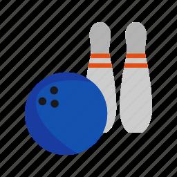 ball, bowling, pins, play, sport, throw icon