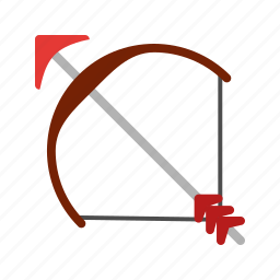 archer, archery, arrow, bow, shoot, target icon