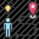 goals, idea, location, motivate, strategy icon