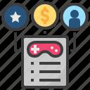 game, principle, regulation, reward, rules icon