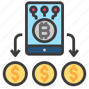 bitcoin, currency, mobile, money, virtual