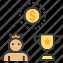 bonus, champion, reward, trophy, winner icon