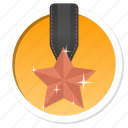 achievement, acknowledge, acknowledgement, award, badge, best, bronze, challenge, conquest, first, game, gamification, mayor, medal, praise, premium, prize, proof, rank, ranking, reward, star, trophy, victory, win icon