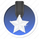 achievement, acknowledge, acknowledgement, award, badge, best, challenge, conquest, first, game, gamification, mayor, medal, praise, premium, prize, proof, rank, ranking, reward, silver, star, trophy, victory, win icon