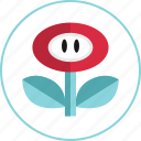 flower, game, gaming, power, up, video icon
