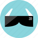 3d, game, gaming, glasses, video, watch icon