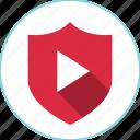 award, play, reward, shield, youtube icon