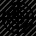 aim, crosshairs, focus, goal, gun, target icon
