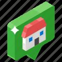 home bubble, home chat, home communication, home speech, speech bubble icon