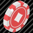 casino chip, casino coin, casino token, gambel coin, poker chip icon