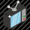 electronics appliances, retro tv, tv, tv set, vintage tv icon