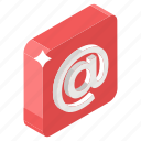 at the rate, business message, email, email contact, email sign, email symbol icon