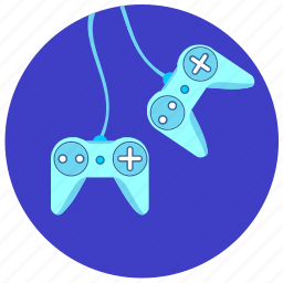 cable, control, dual, game, joystick, play icon