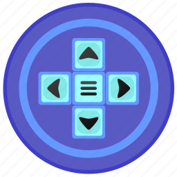 control, game, joystick, label icon