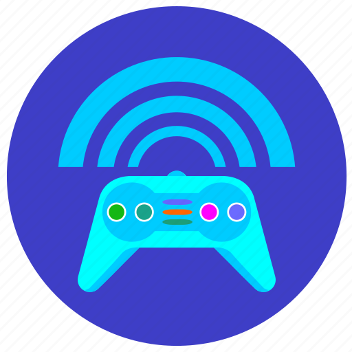 game, joystick, play, process icon