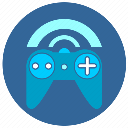 control, game, joystick, wifi icon
