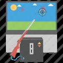 arcade game, shooting arcade, slot machine, sniper game, video arcade icon