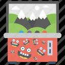 claw game, claw machine, prize game, slot machine, whack machine icon