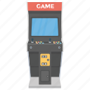 arcade game, electronic game, game console, slot machine, video game icon