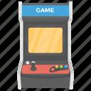 arcade game, classic arcade, coin operated, gaming machine, slot machine icon